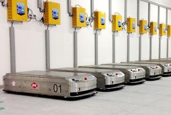 AGV charging area